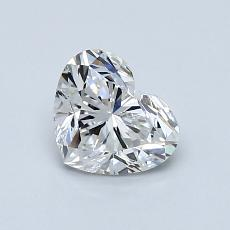 Recommended Stone #1: 0,85-Carat Heart Cut Diamond