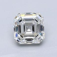 Pierre cible: Diamant taille Asscher 1,03 carat