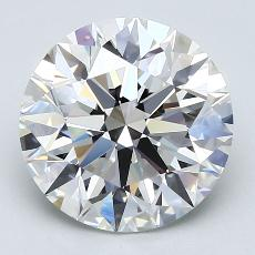 3.06-Carat Round Diamond Ideal F VVS2