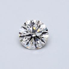0,40-Carat Round Diamond Ideal I VS1