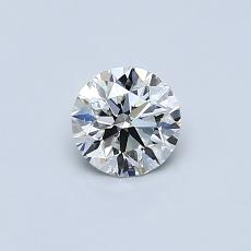 0,40-Carat Round Diamond Ideal I IF