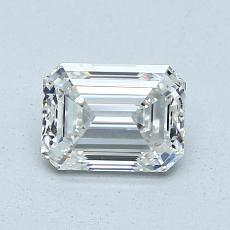 Pierre cible: Diamant taille émeraude 0,90 carat