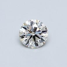 0.40-Carat Round Diamond Ideal J VS2