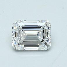 0.90-Carat Emerald Diamond Very Good E VVS1