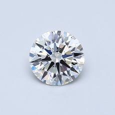 0,54 Carat Rond Diamond Idéale F VVS2