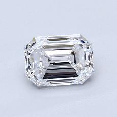 0,90 Carat Émeraude Diamond Très bonne D VVS1
