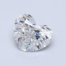 Piedra recomendada 4: Diamante con forma de corazón de 0.90 quilates