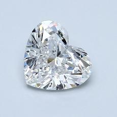 1.01-Carat Heart Diamond Very Good F IF