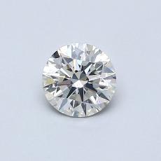 0.50-Carat Round Diamond Ideal J SI1
