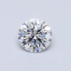 0.50 Carat 圆形 Diamond 理想 D SI1