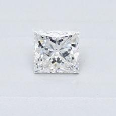 0.30-Carat Princess Diamond Very Good E SI2