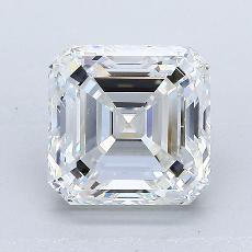 Piedra recomendada 3: Diamante de talla Asscher de 2.50 quilates