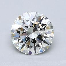 1.08-Carat Round Diamond Ideal H SI1