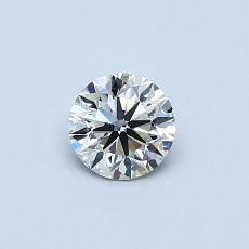 0.40 Carat 圆形 Diamond 非常好 K SI1