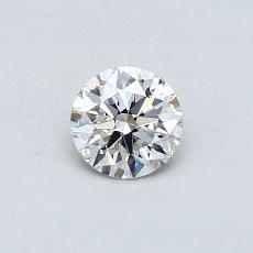 0.43-Carat Round Diamond Ideal H VS2