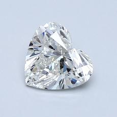 0.91-Carat Heart Diamond Very Good H SI2
