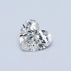 ターゲットの石:0.42カラットのハートカットダイヤモンド