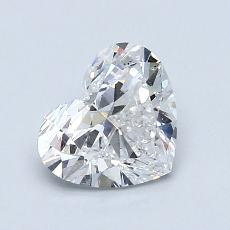 1.02-Carat Heart Diamond Very Good E SI2