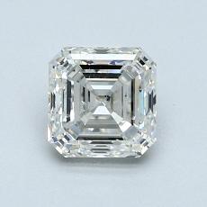 所選擇的鑽石: 1.01  克拉上丁方形鑽石