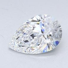 1.10-Carat Pear Diamond Very Good D VVS2