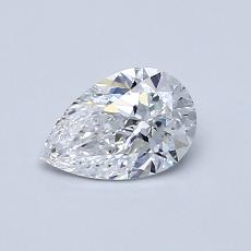 0.52-Carat Pear Diamond Very Good D VVS2