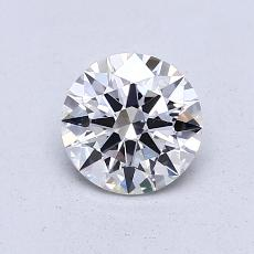 0,80-Carat Round Diamond Ideal G VS1