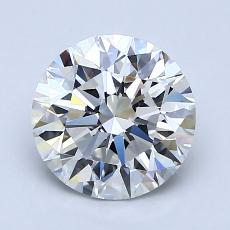 1.51-Carat Round Diamond Ideal E VVS1