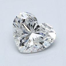 1,02-Carat Heart Diamond Very Good H SI2