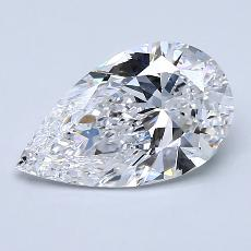 2.01-Carat Pear Diamond Very Good D VS2