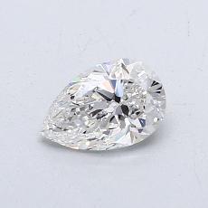 0,51-Carat Pear Diamond Very Good G VVS2