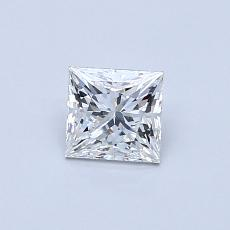 0.54-Carat Princess Diamond ASTOR G VS1