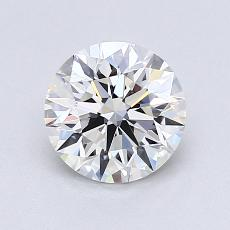 1,00-Carat Round Diamond Ideal G VVS1