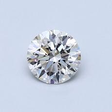 0.54 Carat 圆形 Diamond 理想 H VS1