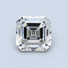 0.99-Carat Asscher Diamond Very Good I SI1