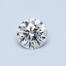 0,50 Carat Rond Diamond Idéale I VVS1