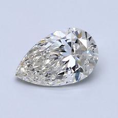 所選擇的鑽石: 0.90 克拉梨形鑽石