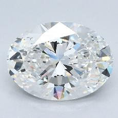 4.02-Carat Oval Diamond Very Good F VS2