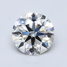 1.20-Carat Round Diamond Ideal H VVS1