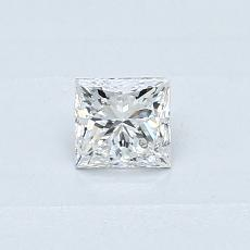 所選擇的鑽石: 0.31  克拉公主方形鑽石