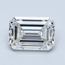 1.50-Carat Emerald Diamond Very Good G VVS1