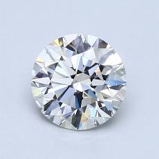 1.05-Carat Round Diamond Ideal F VVS2