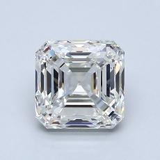 1.51-Carat Asscher Diamond Very Good H IF