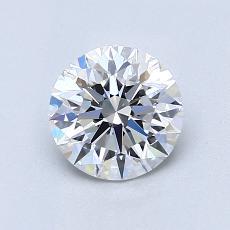 1.00-Carat Round Diamond Ideal D VVS2