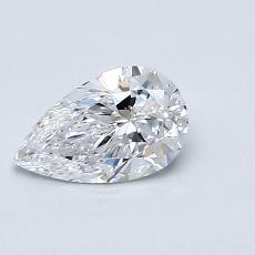 Piedra recomendada 2: Diamante en forma de pera de0.71 quilates