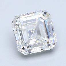 2.01-Carat Asscher Diamond Very Good H VS2