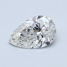 所選擇的鑽石: 0.75 克拉梨形鑽石