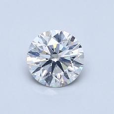 0.60 Carat 圓形 Diamond 理想 F SI2