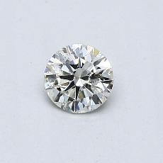 Piedra recomendada 1: Diamante redondo de0,30 quilates