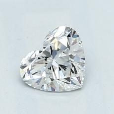 Recommended Stone #2: 0,94-Carat Heart Cut Diamond