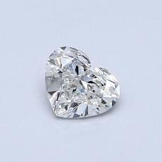 Recommended Stone #3: 0.44-Carat Heart Cut Diamond